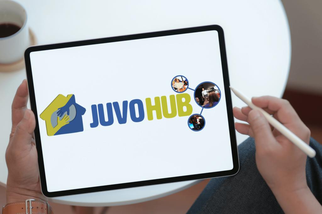 JuvoHub LMS on a tablet